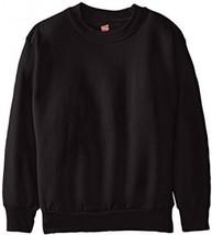 Hanes Big Boys' Eco Smart Fleece Crew, Black, X... - $10.96