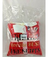 "St Nicholas Decorative Pillow Friends Are the Best Presents 8"" Stuffed - $7.15"