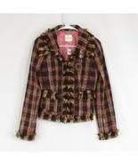 Cool brown pink textured wool blend WALTER long sleeve blazer jacket 0 - $54.99