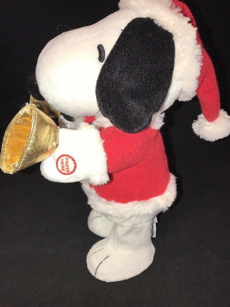 Hallmark Techno Plush Bell Ringer Snoopy Peanuts Gang #LPR2335 Christmas Music image 4