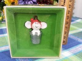 Hallmark Thimble Mouse ornament 1978 tree Trimmer - $24.50