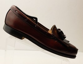GH Bass Mens Weejuns Layton Kiltie Tassel Leather Wine Loafer Shoes Size 11D USA - $42.06