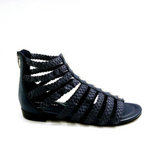 Marc Fisher Womens Pepita Braid Detailed Studded Gladiator Sandal Dark Blue 8.5M - $37.61
