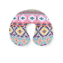 Bright Aztec Tribal Geometric Travel Neck Pillow - $448,67 MXN+