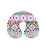 Bright Aztec Tribal Geometric Travel Neck Pillow - $28.99 CAD+