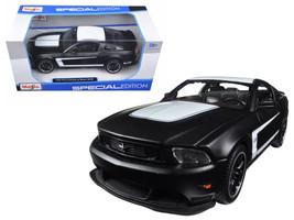 2011 Ford Mustang Boss 302 Matt Black 1/24 Diecast Model Car by Maisto - $34.95