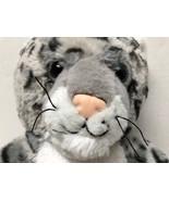 "Build A Bear Snow Leopard Plush Gray White 16"" Soft Plush Toy Stuffed An... - $13.85"