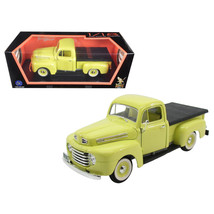 1948 Ford F-1 Pickup Truck with Flatbed Yellow 1/18 Diecast Model Car by Road Si - $64.05