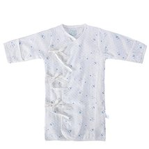WHITE Baby Toddler Cheese Cloths Nightgown Infant Sleepwear 66CM (6M) Blue Print