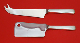 Modern Classic By Lunt Sterling Silver Cheese Server Serving Set 2PC Hhws Custom - $93.20