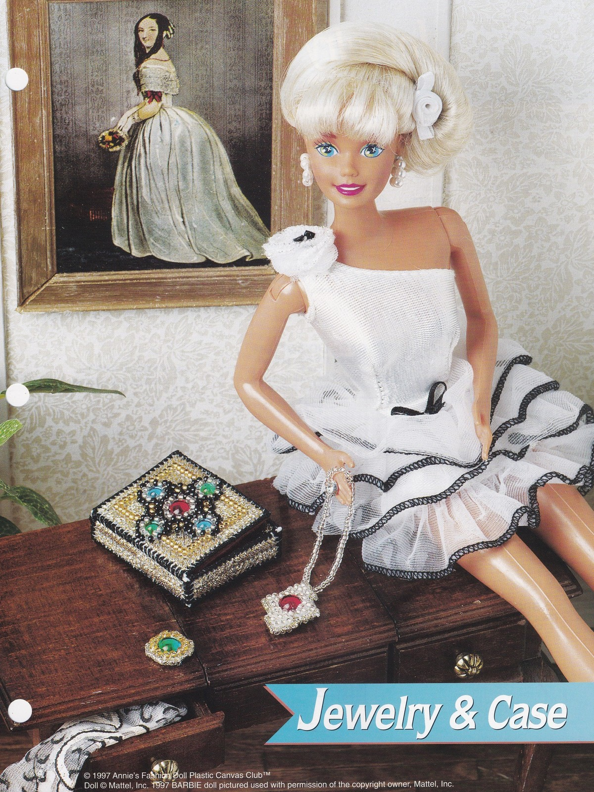Primary image for Jewelry & Case, Annie's Fashion Doll Plastic Canvas Pattern Leaflet FP30-03
