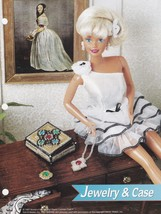 Jewelry & Case, Annie's Fashion Doll Plastic Canvas Pattern Leaflet FP30-03 - $1.95