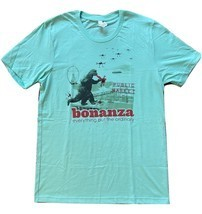"Bonanza ""Bonzilla Drone Attack"" T-Shirt, Blue-Green - $15.00"