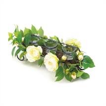 White Faux Floral Candleholder Centerpiece - $24.17