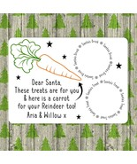 Personalised Santa Treat Board, Father Christmas Eve Plate Rudolph Names... - $16.68