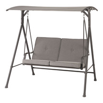 Mainstays Holten Ridge Two-Seat Canopy Patio Swing with Gray Cushions - $159.46