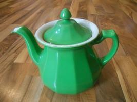 Old Vintage or Antique Hall Buchanon Tricolator Pour Rig Tea Pot Green K... - $299.99