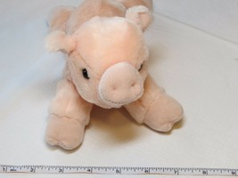 Aurora Pig RARE soft stuffed animal beanie Percy Mini Flopsie piggy piglet - $15.48
