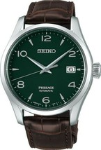 New Seiko Presage Green Enamel Dial Leather Strap Men's Watch SPB111 - $1,400.00