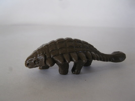 "(BX-1) Vintage 2"" long plastic Dinosaur - brown - $2.00"