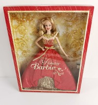 Holiday Barbie 2014 Xmas Blonde Hair Red Ballgown 11 in Fashion Doll New Sealed - $39.95