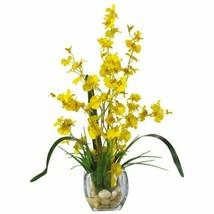 "LuxYellow Dancing Lady Orchid Liquid Illusion Faux Silk Flower Arrangement - 19"" - $69.02"
