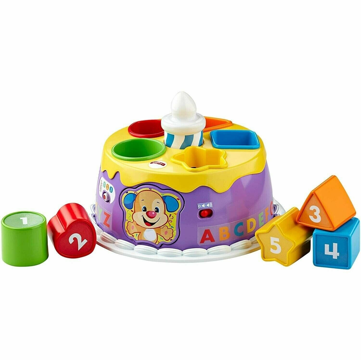 Fisher-Price Musical Lights Birthday Cake Laugh and Learn Smart Stages Toy image 3