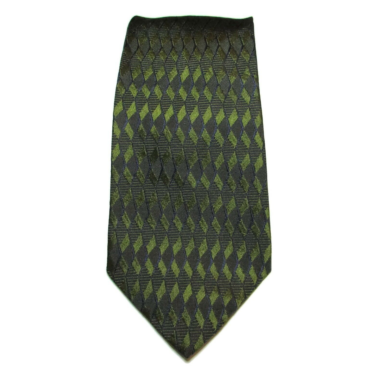 Primary image for Alfani Men's Neck Tie Silk Made In Italy Green Blue 58L 4W