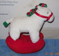 2006 Ty Pluffies Pretty Pony Christmas Rocking Horse Stuffed Animal Plush Toy - $7.25