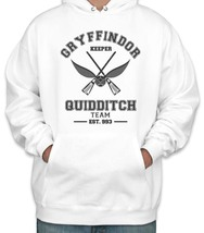 KEEPER Old Gryffindor Quidditch team Keeper Unisex Pullover hoodie White - $37.00+