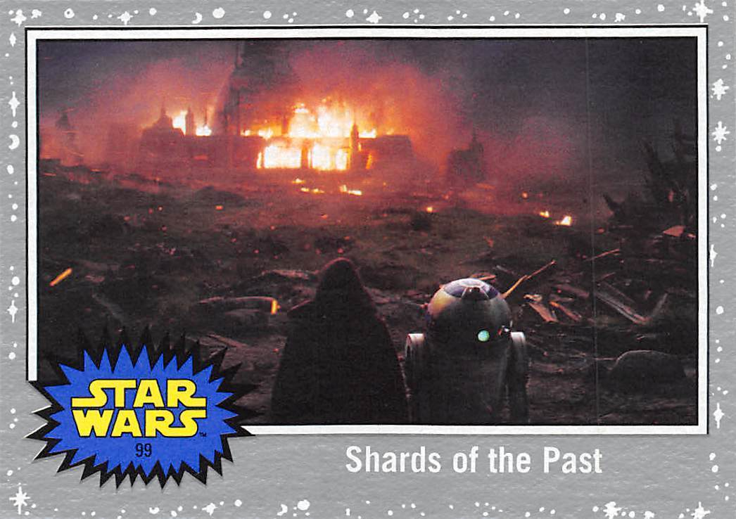 2017 Topps Star Wars Journey To The Last Jedi Silver #99 Shards Of The Past