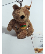 Vintage Steiff Original Bear Mini Mohair Keychain #110740 - $5.00