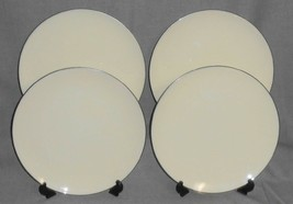 Set (4) Lenox OLYMPIA - PLATINUM PATTERN Dinner Plates MADE IN USA - $79.19