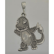0301 Charmander Pokemon Pendant Charm Sterling Silver Jewelry fire type dragon - $21.05