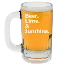 12oz Beer Mug Stein Glass Beer Lime & Sunshine - $12.86