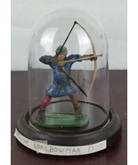 English Long Bow Man 1300 /With Glass Dome Decor - $14.03