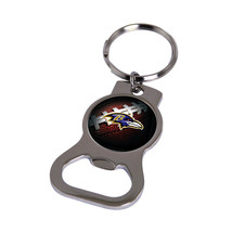 Non Metal Nfl Baltimore Ravens Bottle Opener Key Ring By Rico Industries (Length - $11.62