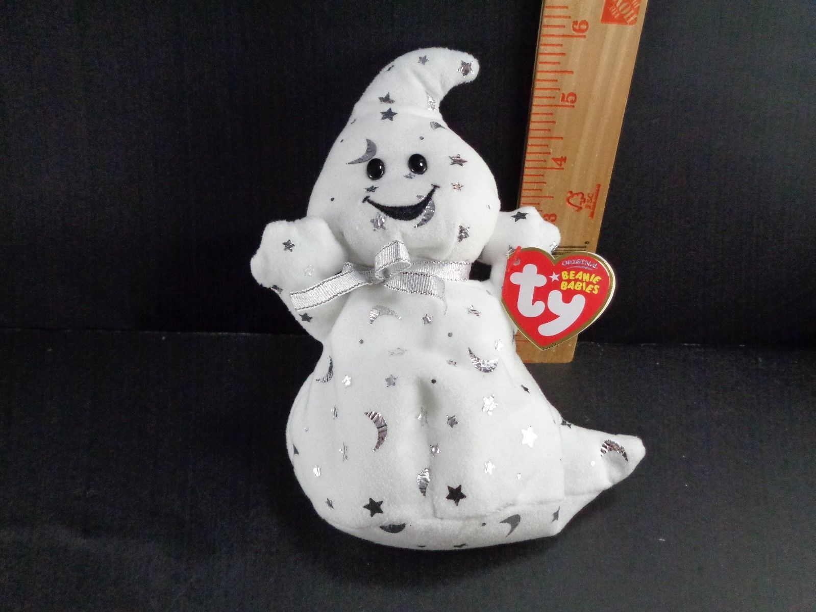 Halloween Ty Ghost Stars And Moon Vanish Plush Stuffed Animal Toy Doll image 1