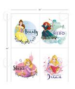 Princess Belle Aurora Rapunzel Merida 100% Cotton fabric by the panel 43... - $11.26