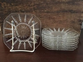 "Lot #11 / Federal Glass Columbia Clear 6"" Bread & Butter Plate c1938-42 ... - $39.99"