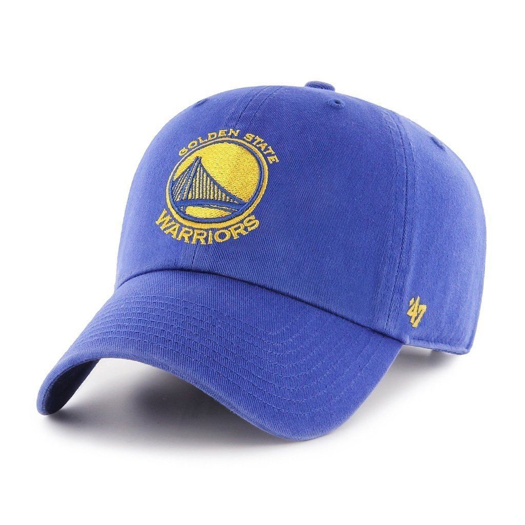 47Brand Golden State Warriors Royal Blue Clean Up Adjustable Baseball Cap