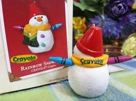 Hallmark Rainbow Snowman Crayola ornament 2002 - $10.00
