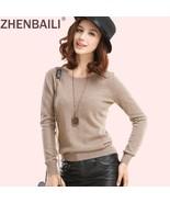 ZHENBAILI Quality Women Cashmere Sweater Autumn Winter Fashion Round Nec... - $44.81+