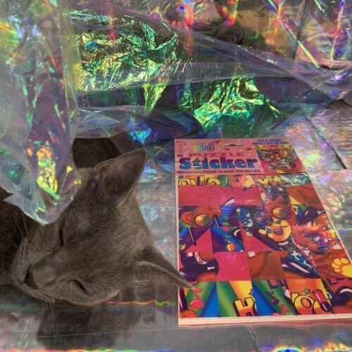 Vintage Lisa Frank JUMBO Puzzle Sticker Sheet SEALED Hollywood Bear RARE HTF
