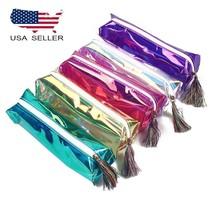 Laser Transparent Holographic Cosmetic Zipper Bag Make Up Pouch Pen Pencil Case - $5.93+