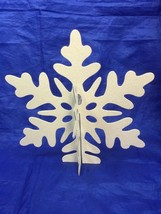 4 HOLIDAY TIME White Glitter Snowflake Table Decoration Snowflakes 25319 - $18.52