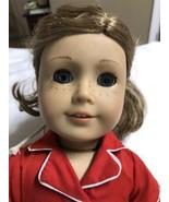 "AMERICAN GIRL Doll 2008 18"" Blue Eyes Freckles Light Brown Hair  - $54.82"
