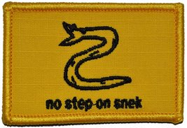 No Step On Snek - 2x3 Military/Morale Funny Patch with Hook Fastener Backing (Fu - $5.87