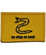 No Step On Snek - 2x3 Military/Morale Funny Patch with Hook Fastener Bac... - $5.87