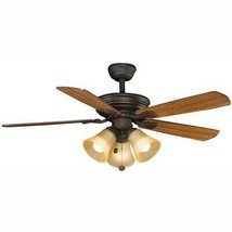 Hampton Bay Westmount 44 in. LED Oil Rubbed Bronze Ceiling Fan with Ligh... - €54,57 EUR